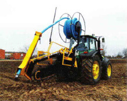 Trencher working on a farm