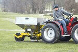 Trencher in action