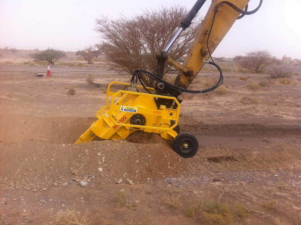 MH100 - Excavator mounted trencher